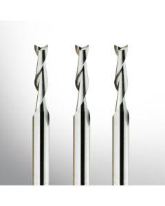 VHM Fräser - Zweischneider Fischschwanz Ø 0.30mm - Ø 3.175mm