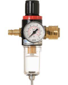 Steck-Druckminderer mit Partikelfilter und Wasserabscheider inkl. halbautomatischen Entwässerung